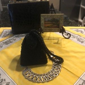 Handbags - Carlo Fellini Stunning Beaded Evening Bag.
